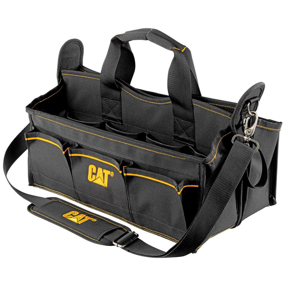 Polyester Tool Tote Storage Bag Organizer with Padded Shoulder Strap Tape Holder