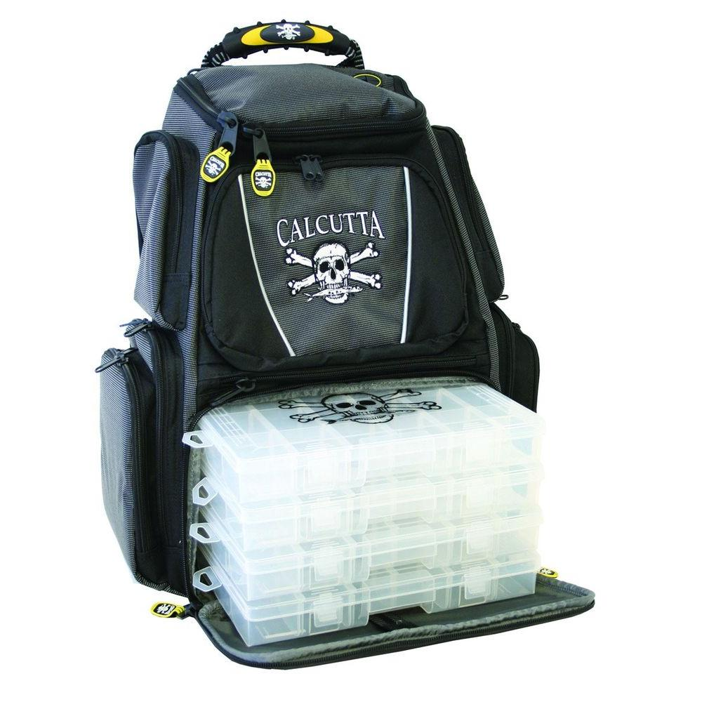 Calcutta Black and Gray Tackle Backpack with 3-360 Trays