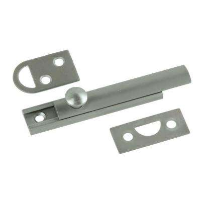 3 in. Solid Brass Satin Nickel Slide Door Bolt