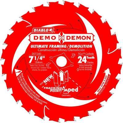 7-1/4 in. 24-Tooth Demo Demon Tracking Point Amped Saw Blade