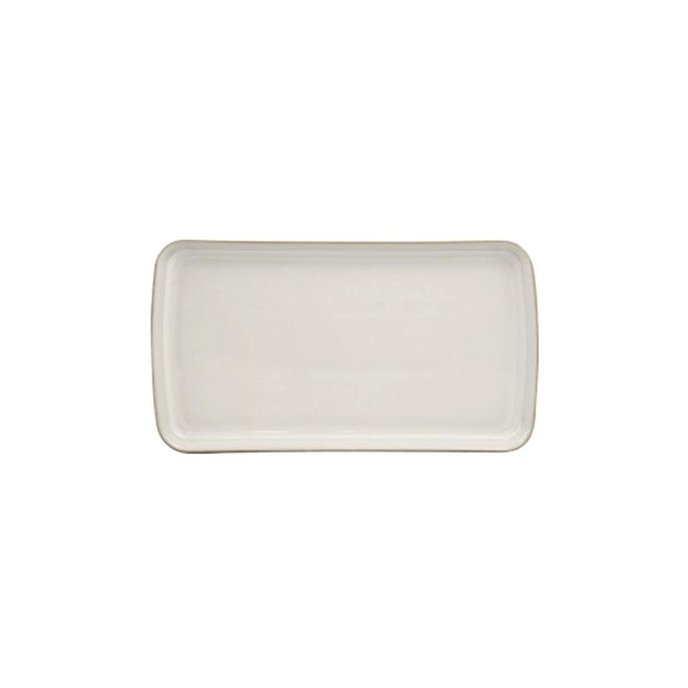 Natural Canvas Stoneware Small Rectangular Platter