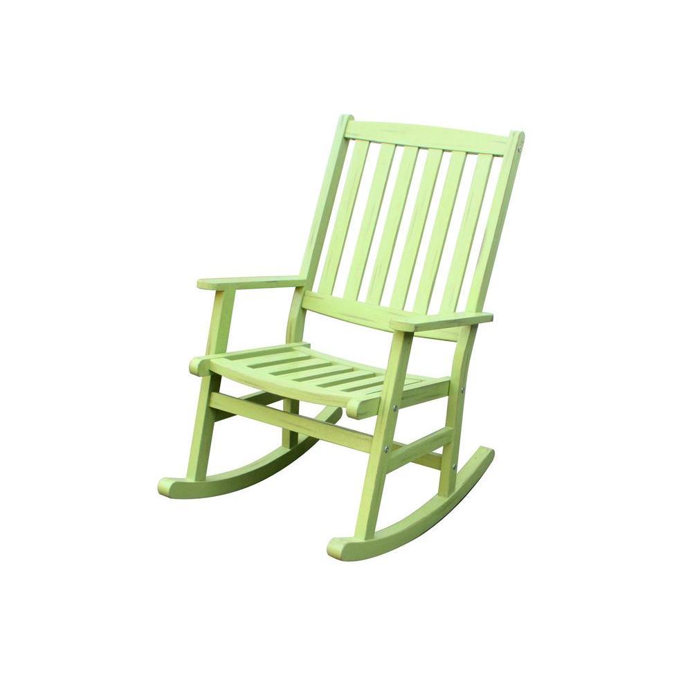 Home Styles Bali Hai Limeade Patio Rocking Chair