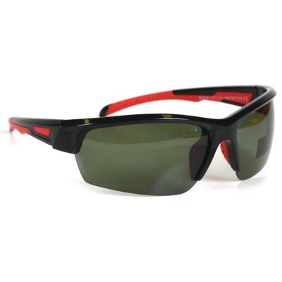 Sport Black with Red Accent Polarized Sunglasses