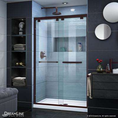Encore 44 to 48 in. x 76 in. Semi-Frameless Bypass Shower Door in Oil Rubbed Bronze