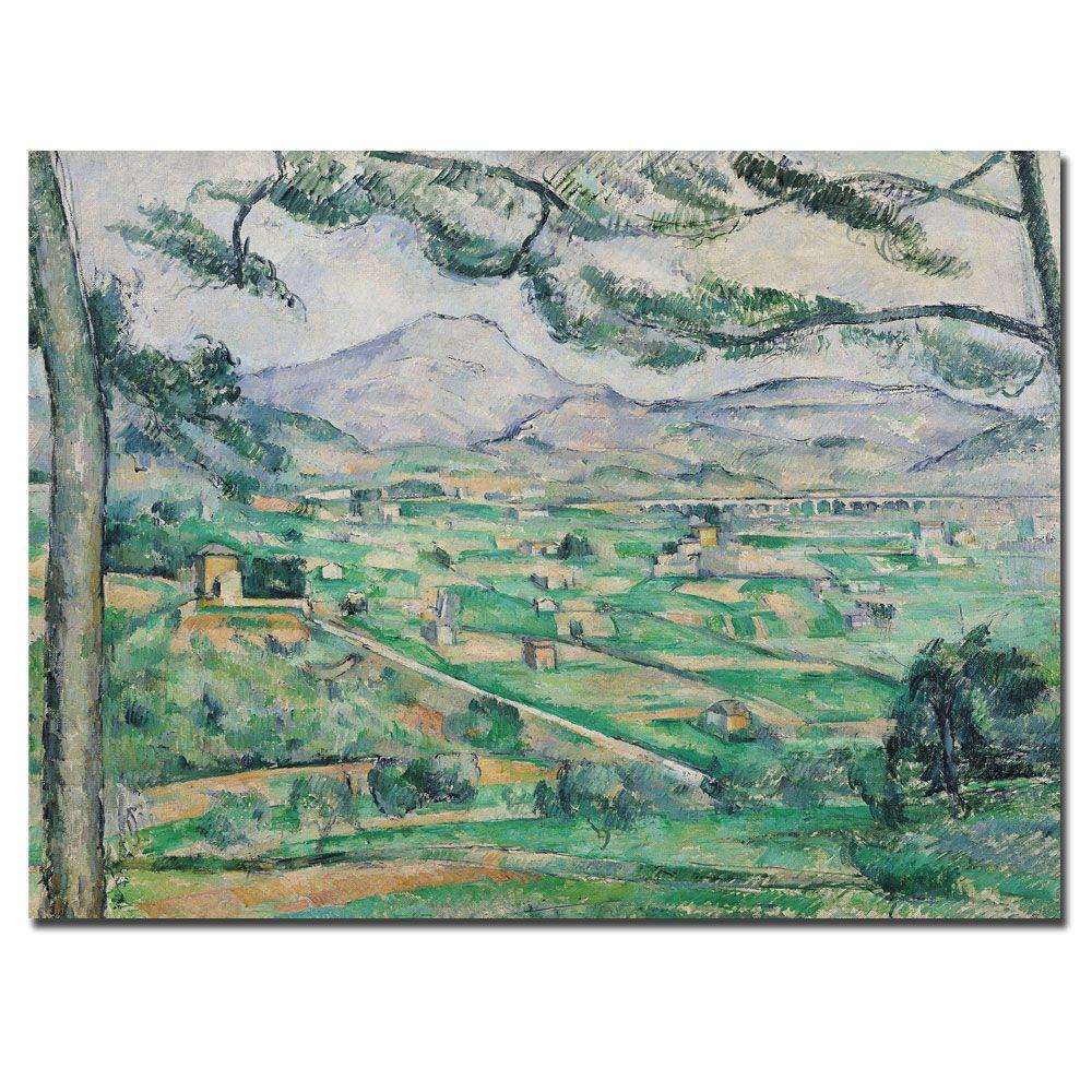 Trademark Fine Art 35 in. x 47 in. Montagne Sainte-Victorie Canvas Art