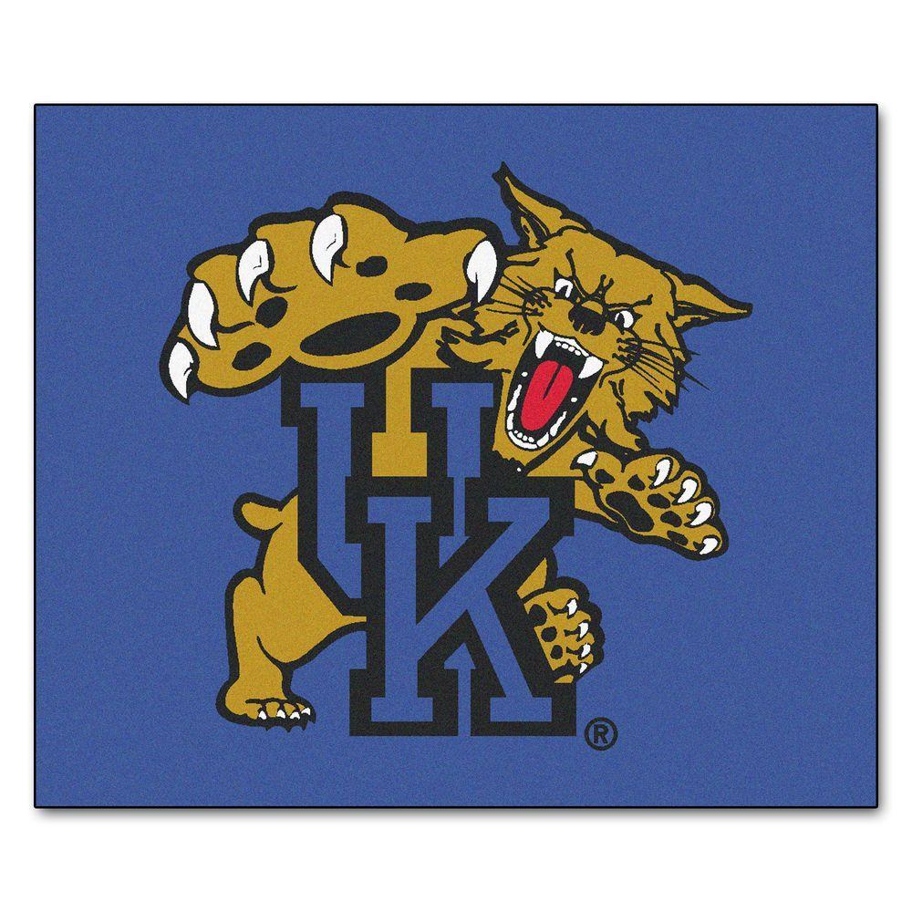 Fanmats Ncaa Univeristy Of Kentucky Blue 6 Ft X 5 Ft