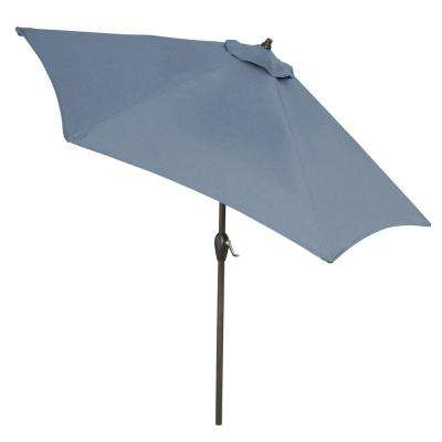 9 ft. Aluminum Market Tilt Patio Umbrella in Sunbrella Spectrum Denim