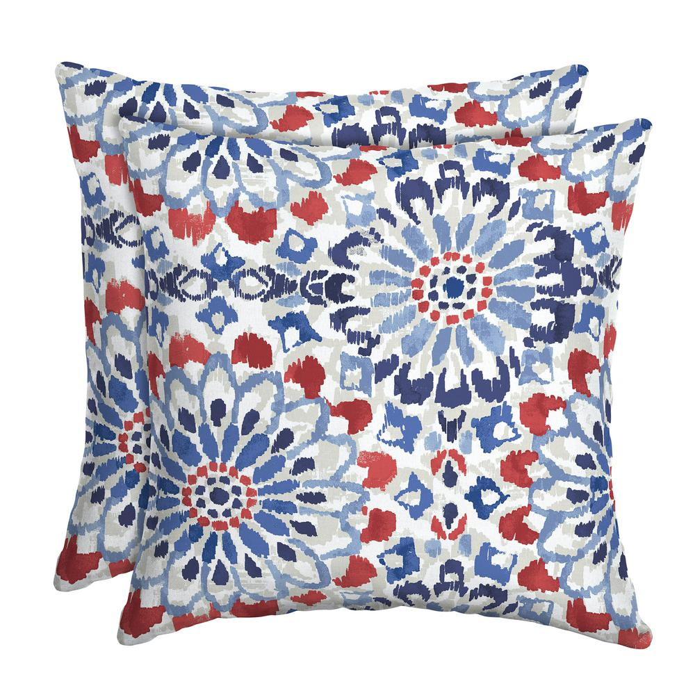 Arden Selections 16 X 16 Clark Square Outdoor Throw Pillow 2 Pack Th1f554b D9z2 The Home Depot