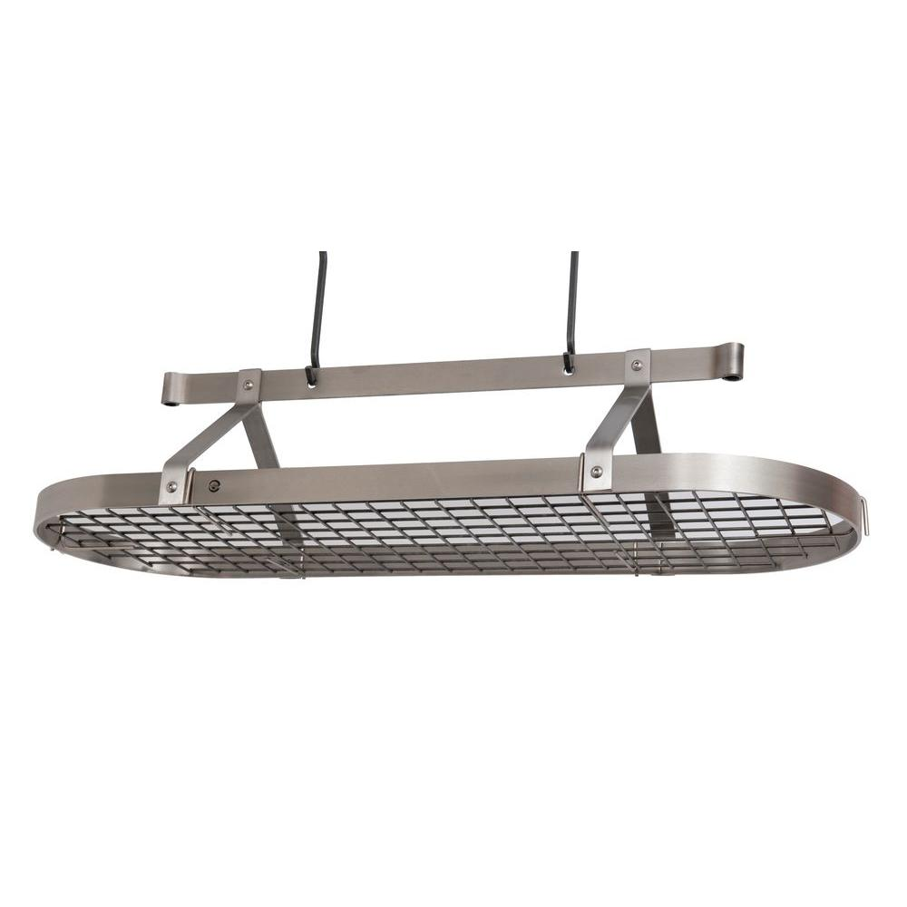 Premier 4 ft. Oval Ceiling Pot Rack Stainless Steel