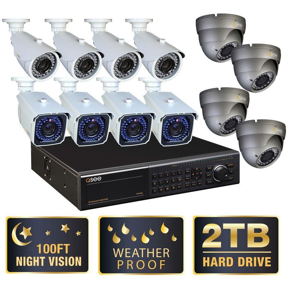 Q-SEE Elite Series 32 CH 2 TB Hard Drive Surveillance System with (12) 650 TLV Cameras-DISCONTINUED