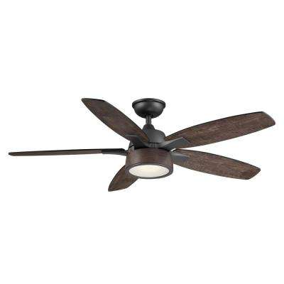 Parkridge 52 in. LED Natural Iron Ceiling Fan With Light and Remote Control
