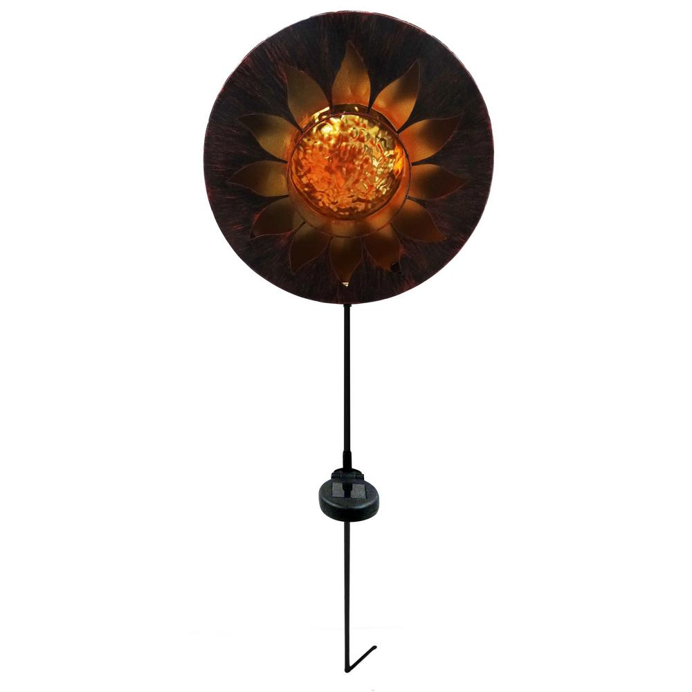 Alpine Corporation Solar Sun Garden Stake With Led Lights Tm