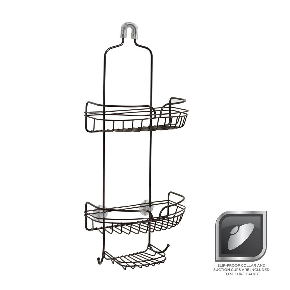 Glacier Bay Over-the-Showerhead Caddy in Bronze-7529HBHD - The Home ...