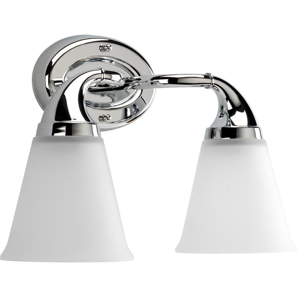 Lahara Collection 2-Light Chrome Vanity Fixture