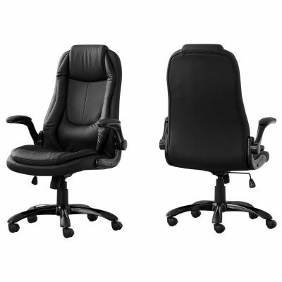 Black Leather-Look High Back Executive Office Chair