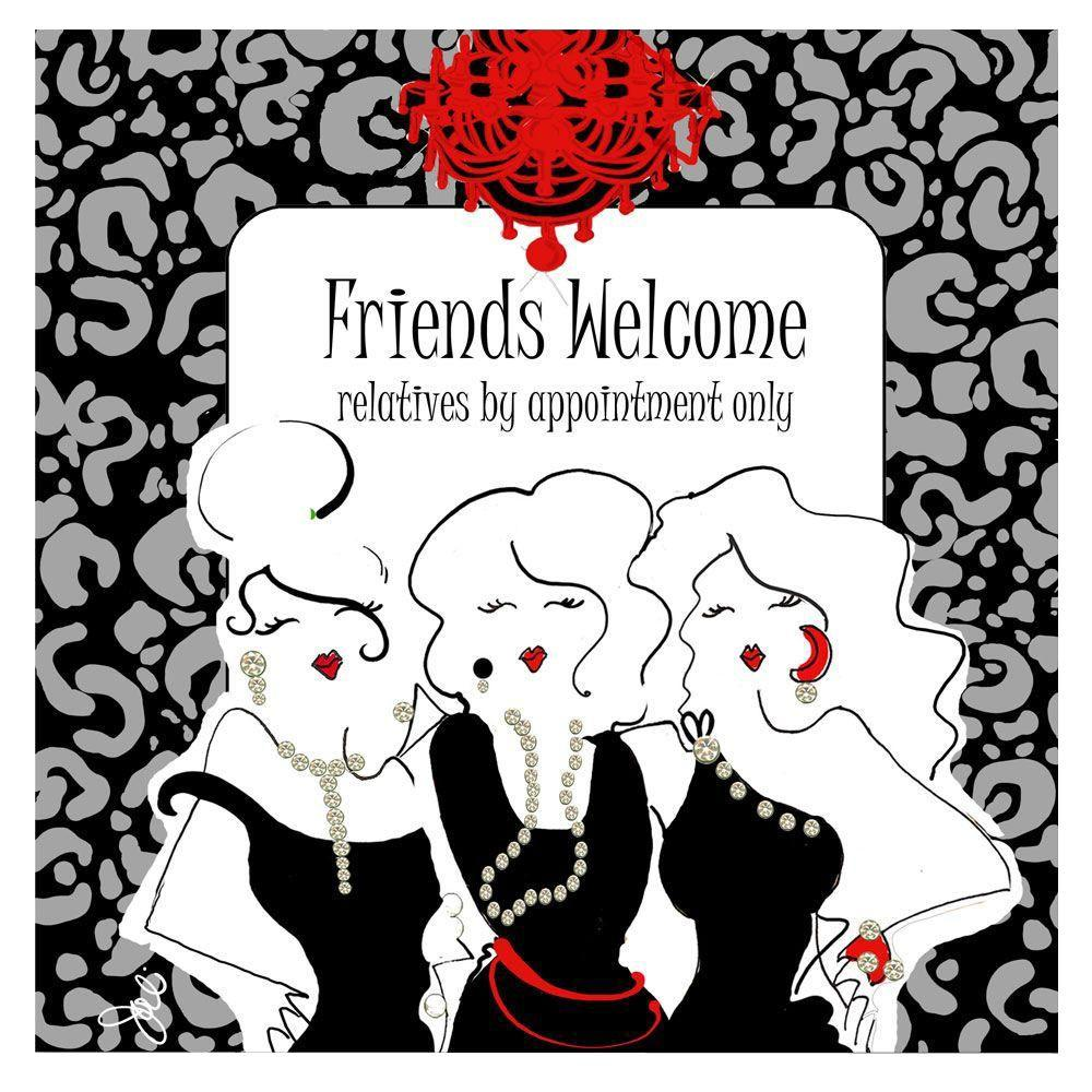 Trademark Fine Art 18 in. x 18 in. Friends Welcome Canvas Art-DISCONTINUED