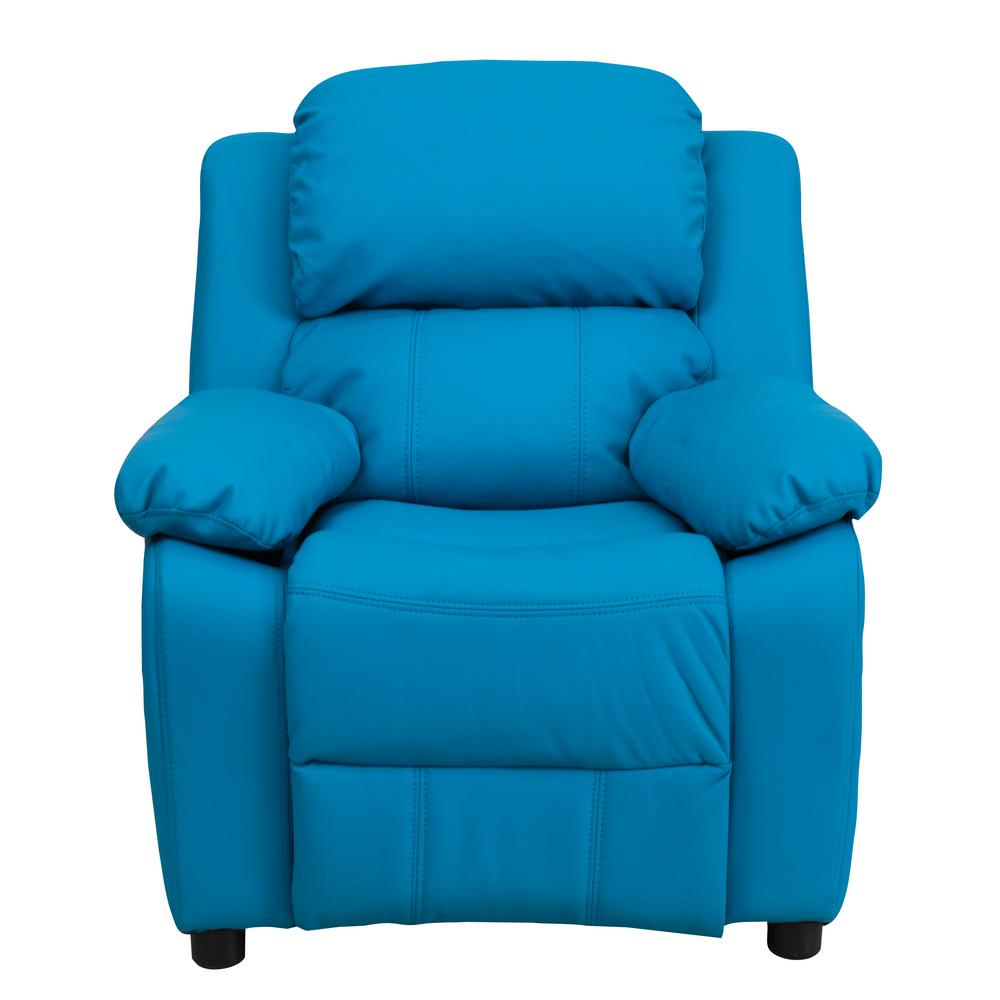 Flash Furniture Deluxe Padded Contemporary Turquoise Vinyl
