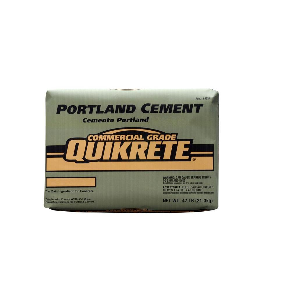 Portland Type 1 Cement  Package Size Brand Name Quikrete  Product Type 47 lb.
