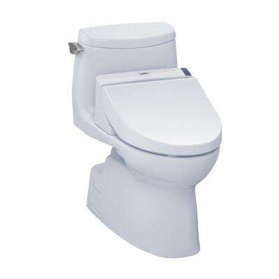 Carlyle II Connect+ 1-Piece 1.0 GPF Elongated Toilet with Washlet C200 Bidet Seat and CeFiOntect in Cotton White