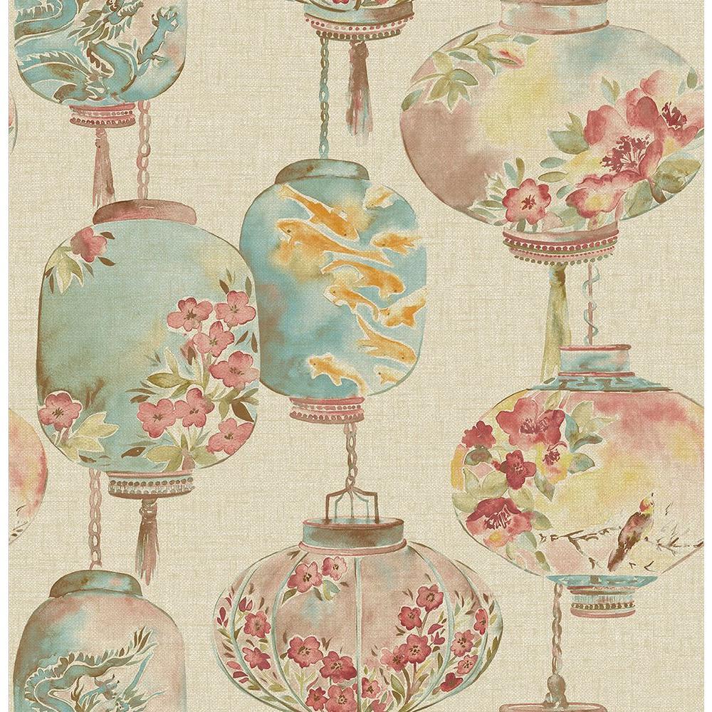 Kana Beige Lantern Festival Wallpaper Sample