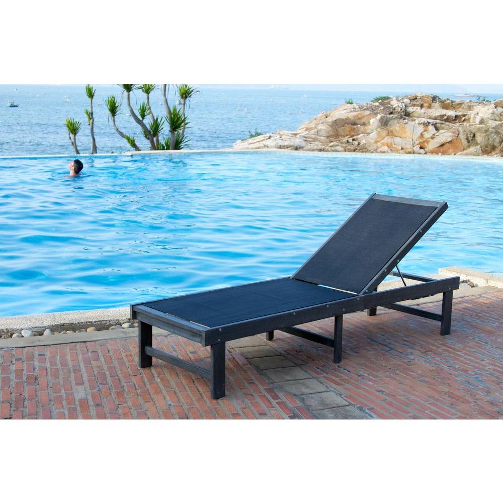 Manteca Ash Grey Outdoor Patio Lounge Chair