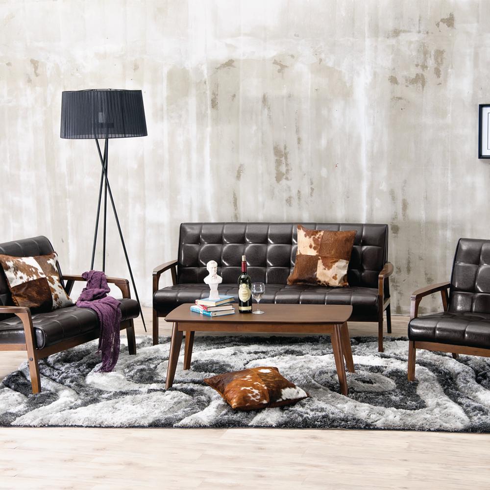 Masterpieces 3-Piece Brown Living Room Suite
