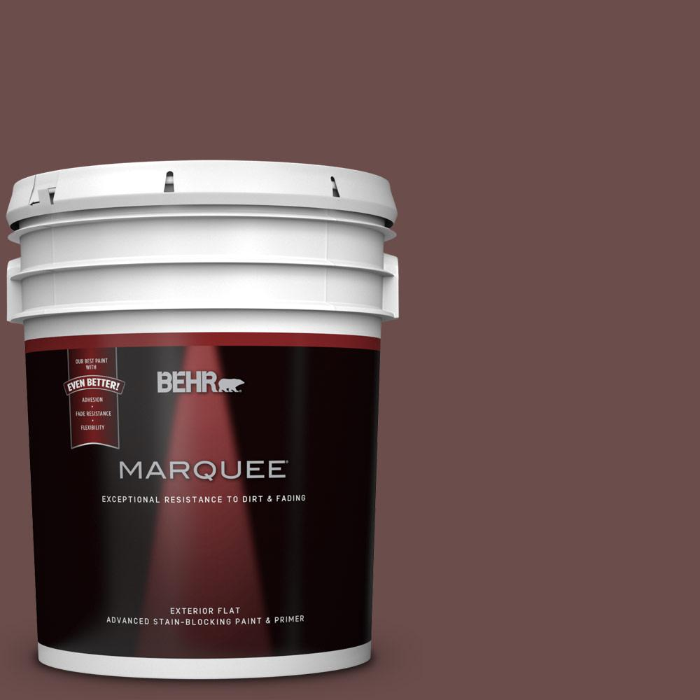 BEHR MARQUEE 5-gal. #N150-6 Coffee Beans Flat Exterior Paint-445305 ...