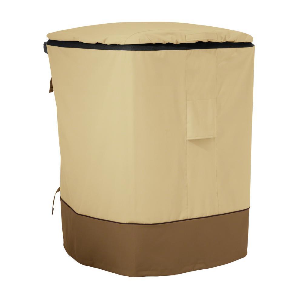 Veranda 29 in. L x 34 in. W x 46 in. H Outdoor Trash Cart Cover Fits Standard 96 Gal. Trash Carts