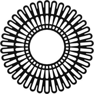 40 in. O.D. x 14-7/8 in. I.D. x 1 in. P Cornelius Architectural Grade PVC Peirced Ceiling Medallion
