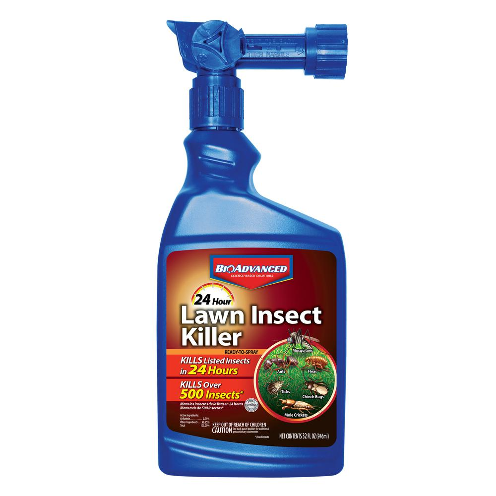 Bioadvanced 24 Hour Lawn Insect 32 Oz Ready To Spray