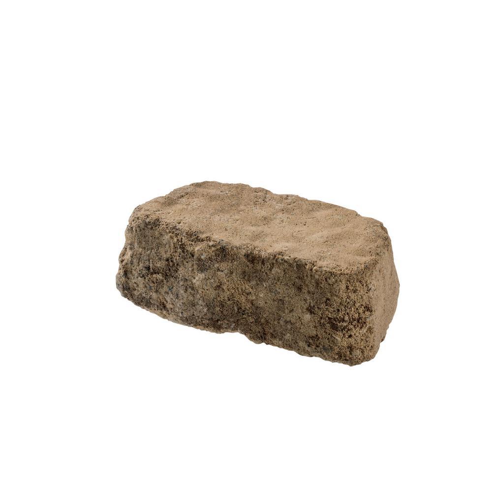 Mini Beltis 3 in. H x 8 in. W x 4 in. D Sand Hill Concrete Retaining Wall Block Pallet (378-Piece/Pallet)