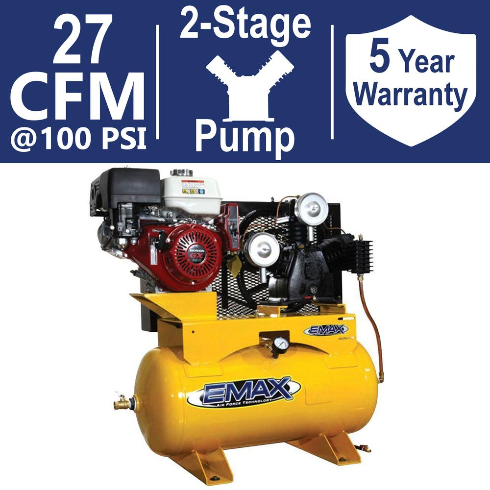 EMAX Industrial PLUS Series 30 Gal. 13 HP Truck Mount Stationary Gasoline Air Compressor