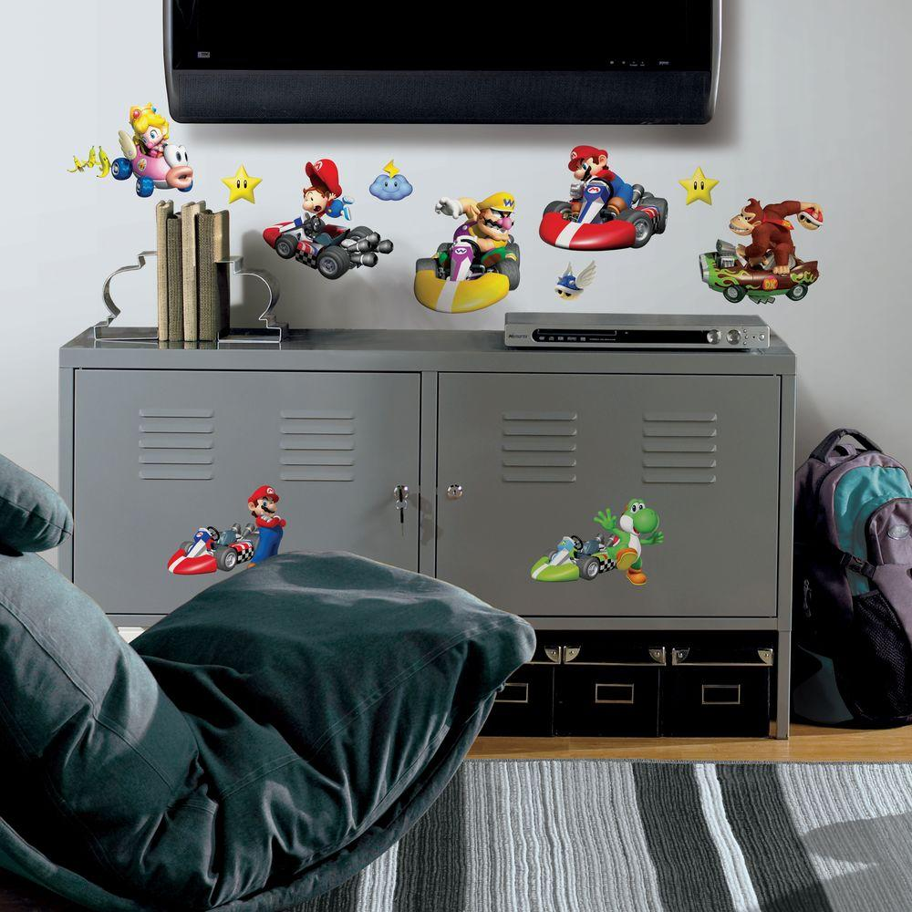 York Wallcoverings Nintendo Mario Kart Peel and Stick Wall Decals