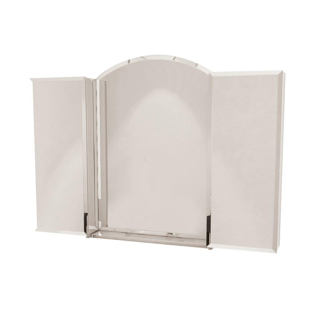 MAAX Optimal 48 in. x 30 in. Mirrored Recessed or Surface Mount Medicine Cabinet in Satin Nickel
