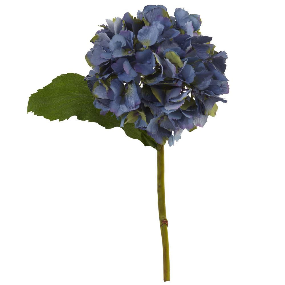 Indoor 12 in. Hydrangea Artificial Flower (Set of 12)