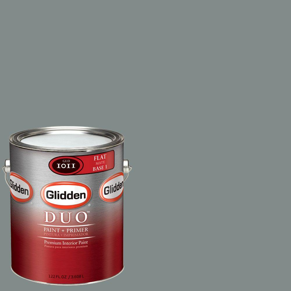 Glidden DUO Martha Stewart Living 1-gal. #MSL270-01F Schoolhouse Slate Flat Interior Paint with Primer-DISCONTINUED