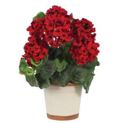 17 in. Geranium Silk Plant