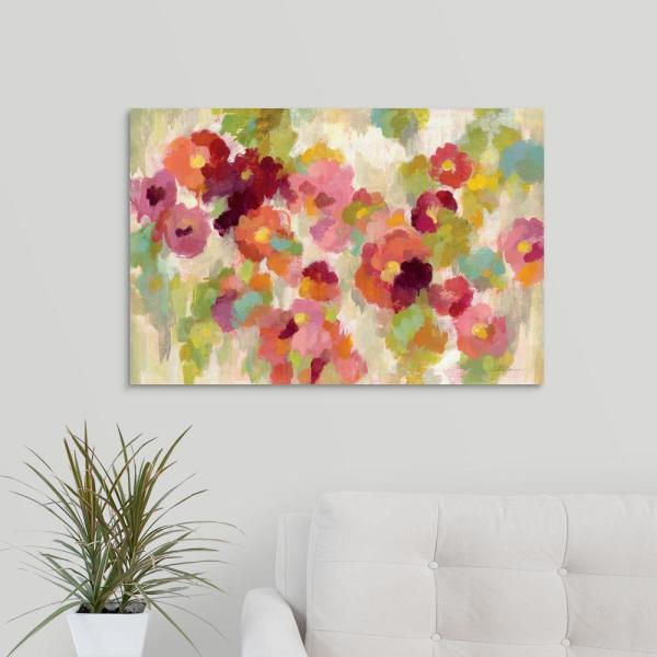 Greatbigcanvas Coral And Emerald Garden I By Silvia Vassileva Canvas Wall Art 2400095 24 30x20 The Home Depot