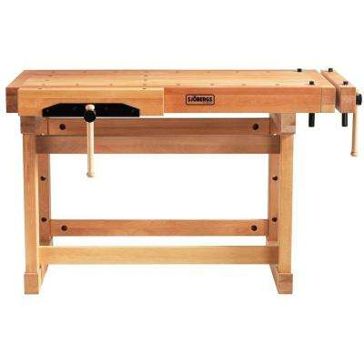 Elite 4-1/5 ft. Beech Workbench in Wood