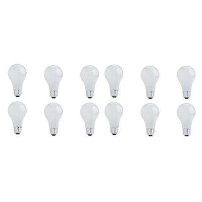29-Watt A19 Dimmable Soft White Light Halogen Light Bulb (12-Pack)