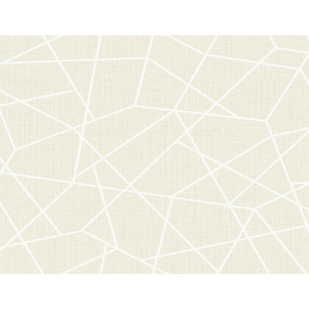 8 in. x 10 in. Heath Cream Geometric Linen Sample