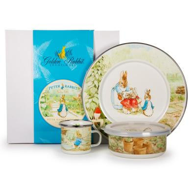 Peter Rabbit 3-Piece Feeding Set with Plate Bowl and Mug
