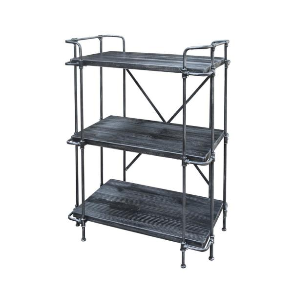 Noble House Oak Gray 5-Tier Etagere Shelf 295788 - The Home