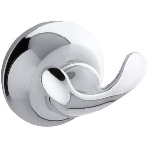 Forte Double Sculpted Robe Hook In Polished Chrome
