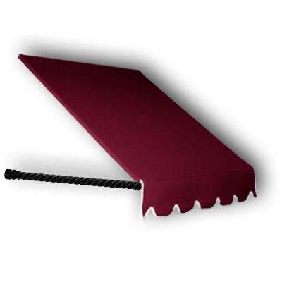 8.38 ft. Wide Santa Fe Twisted Rope Arm Window/Entry Awning (24 in. H x 12 in. D) Burgundy