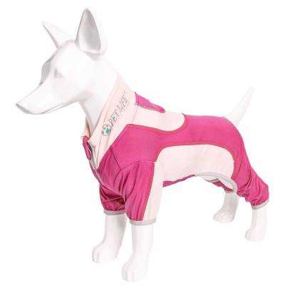 Large Pink Active Warm-Pup Performance Two-Toned Full Body Warm Up