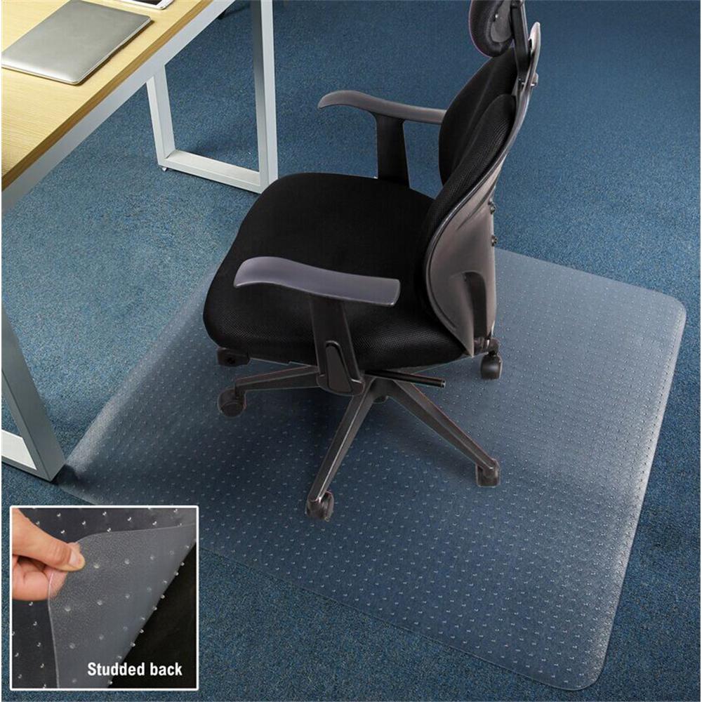 Direct Wicker Premium Studs Clear 47 In X 29 In Pvc Carpet Floor Office Chair Mat En Dw Pvc9 The Home Depot