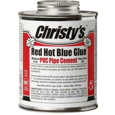 16 oz. PVC Red Hot Blue Glue Cement (Case of 10)