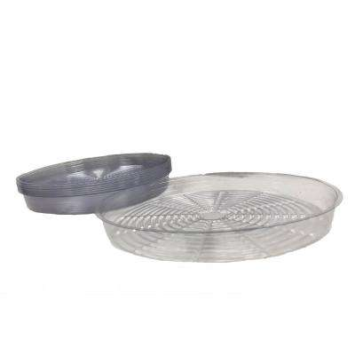 17 in. Clear Plastic Saucer (10-Pack)