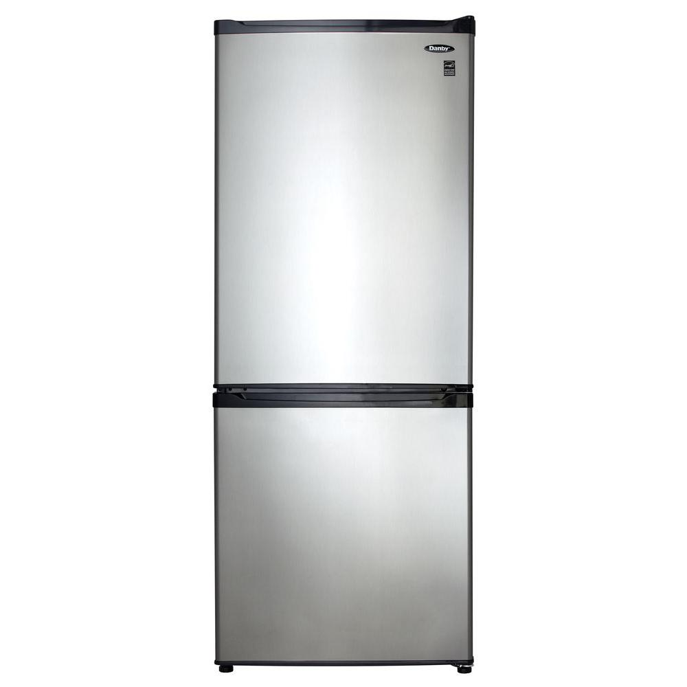 Danby 24 in. W 9.2 cu. ft. Bottom Freezer Refrigerator in Stainless ...